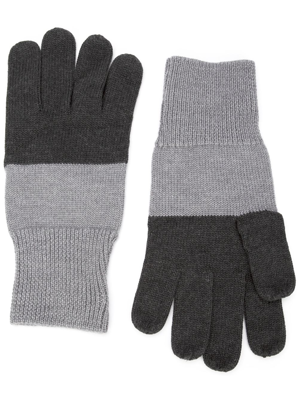 Colour Block Gloves by Maison Margiela