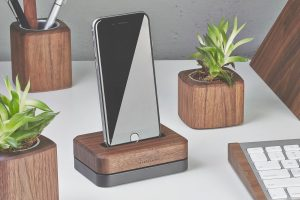 Grovemade wooden iPhone dock