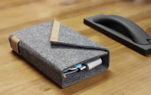 Universal Cable Travel Organizer Wool Felt Case
