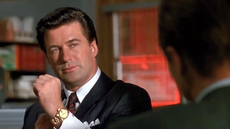 Alec Baldwin Rolex Watch in Glengarry Glen Ross